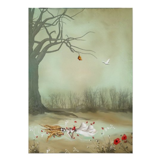 Rustic Goth Art Shakespeare Ophelia Poster