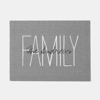 Rustic Gray Family Monogram Doormat