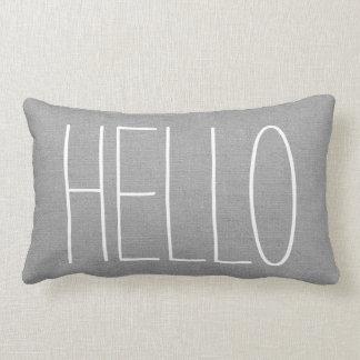 Rustic Gray Hello Lumbar Cushion