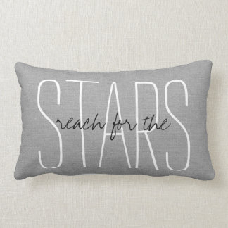 Rustic Gray Reach for the Stars Lumbar Cushion