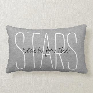 Rustic Gray Reach for the Stars Lumbar Cushion