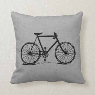 Rustic Gray Vintage Bicycle Cushions