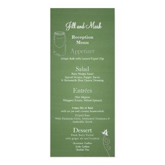 Rustic Green Chalkboard 3d Monogram 10 Cm X 24 Cm Invitation Card