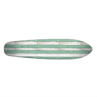 Rustic Green Driftwood Custom Skate Board