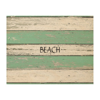 Rustic Green Driftwood Wood Canvases