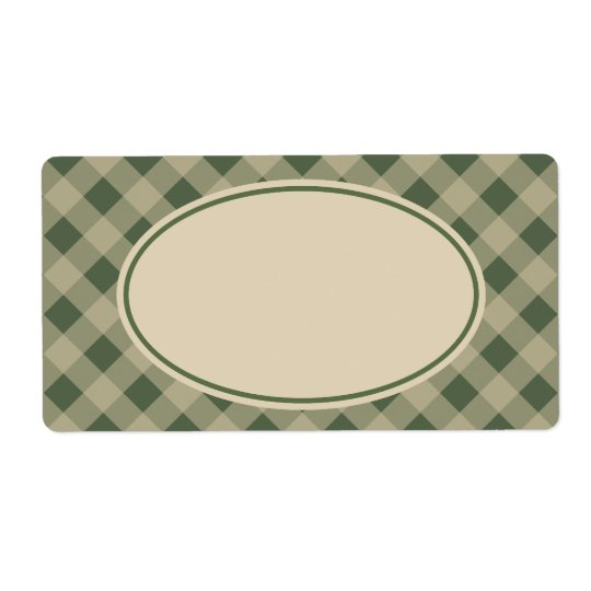 Rustic Green Gingham Labels