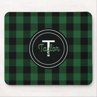 Rustic Green Lumberjack Checkered | Buffalo Plaid Mouse Mat