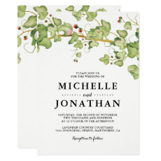 Rustic Greenery Wedding Invite | Botanical Ivy