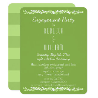 Rustic Greenery | Wedding Vine Engagement Party Card