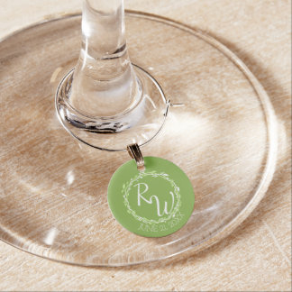 Rustic Greenery | Wedding Vine Foliage Favours Wine Glass Charms