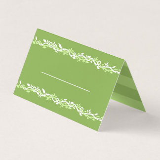Rustic Greenery | Wedding Vine Green Love Place Card