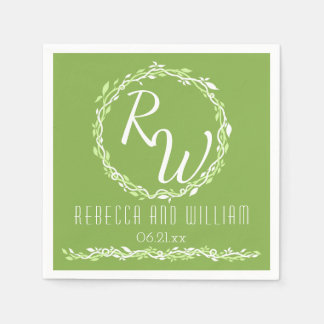 Rustic Greenery | Wedding Vine Simple Classic Paper Napkins
