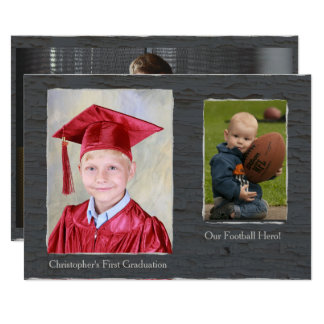 Rustic Grey Texture Photo Frame Card 13 Cm X 18 Cm Invitation Card