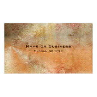 Rustic Grunge Abstract Design in Fall Colors Double-Sided Standard Business Cards (Pack Of 100)