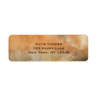 Rustic Grunge Abstract Design in Fall Colors Return Address Label