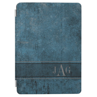 Rustic Grunge Blue Book Design iPad Air Cover