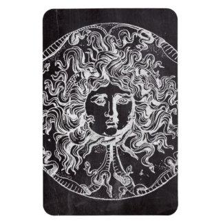 rustic grunge chalkboard art vintage medusa flexible magnets