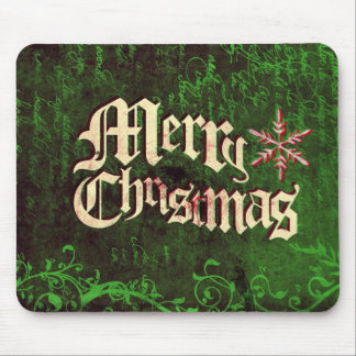 Rustic Grunge Christmas Mouse Pad