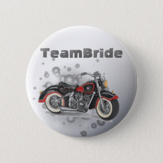 Rustic grunge Motorcyle Biker Wedding 6 Cm Round Badge