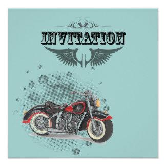 Rustic grunge Motorcyle Biker Wedding Card