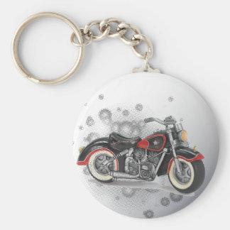 Rustic grunge Motorcyle Biker Wedding Key Ring