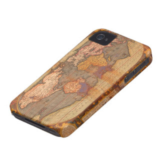 Rustic Grunge Old World Map Phone Case iPhone 4 Cases
