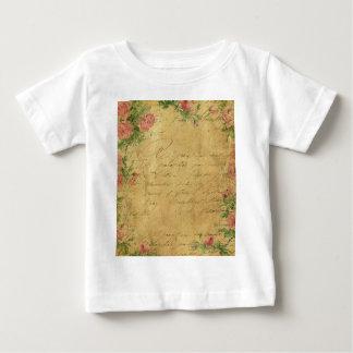 Rustic,grunge,paper,vintage,floral,text,roses,rose Tee Shirt