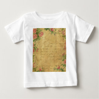 Rustic,grunge,paper,vintage,floral,text,roses,rose Tee Shirts