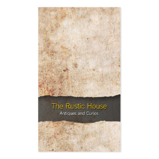 Rustic Grunge Texture Retail Trade Business Card