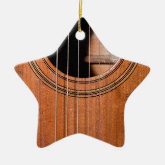 Rustic guitar christmas ornament