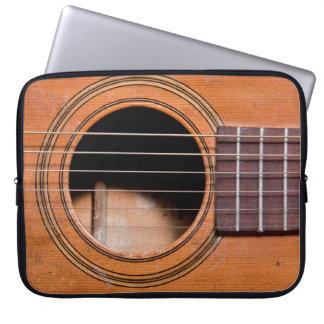 Rustic guitar computer sleeves
