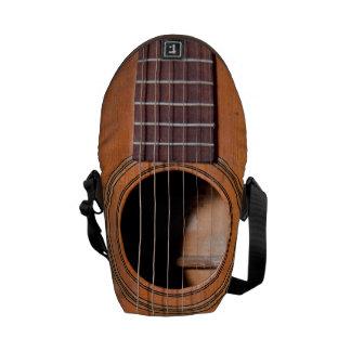 Rustic guitar messenger bag