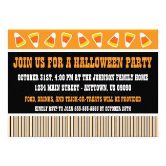Rustic Halloween Invitation (Candy Corn)