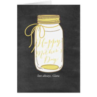 Rustic Happy Mother's Day Card
