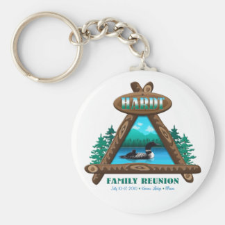 Rustic Hardt Family Reunion Basic Round Button Key Ring