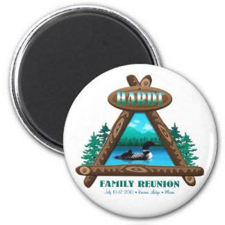 Rustic Hardt Family Reunion 6 Cm Round Magnet