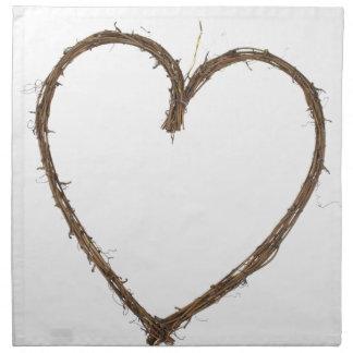 rustic heart napkin