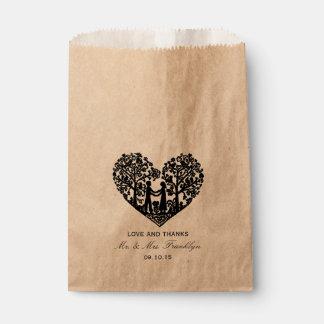 Rustic Heart Wedding Favor Bag Favour Bags