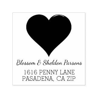 Rustic Heart Wedding Monogram Return Address Self-inking Stamp