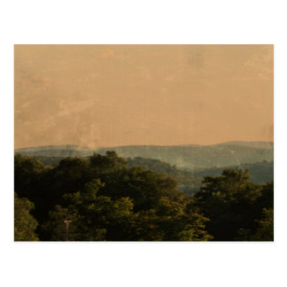 Rustic Hill and Tree Landscape Postcards