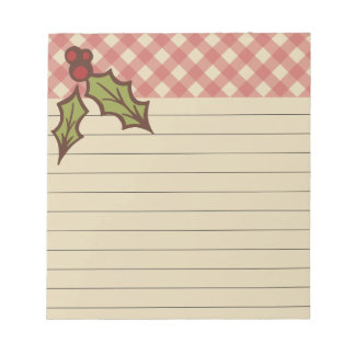 Rustic Holiday Notepad