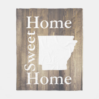 Rustic Home Sweet Home Arkansas Barn Wood Fleece Blanket