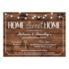 Rustic Home Sweet Home Housewarming Lights Invite