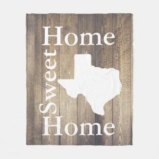 Rustic Home Sweet Home Texas Wooden Planks Fleece Blanket