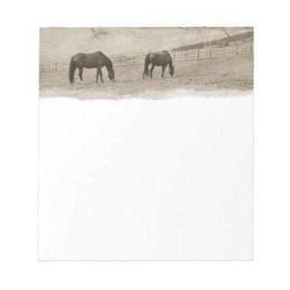 Rustic Horse Farm Notepad