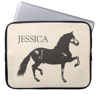 Rustic Horse Laptop Case - Personalize Computer Sleeve