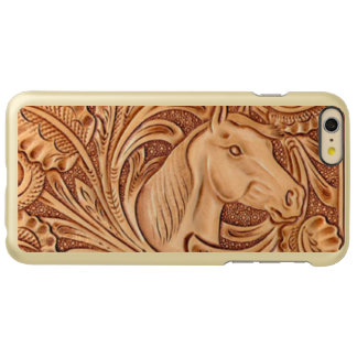 Rustic Horse pattern tooled leather