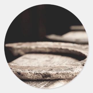 Rustic Horseshoe Classic Round Sticker