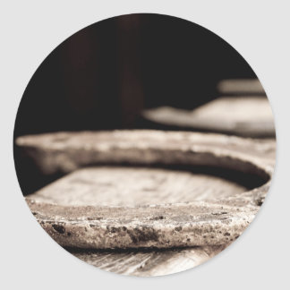 Rustic Horseshoe Round Sticker