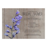 Rustic Hyacinth Bridal Shower Invitations